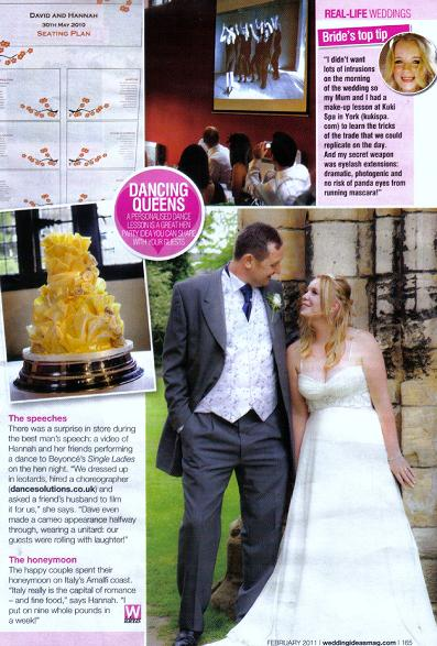 Magazine article from Wedding Ideas magazine featuring Dance Solutions